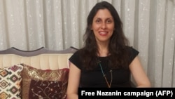 Nazanin Zaghari-Ratcliffe poses for a photograph in Tehran following her release.
