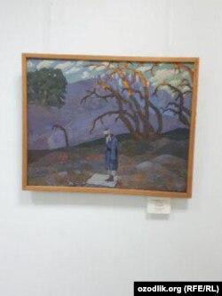 Отреставрированная картина Николая Карахана «Вечерний намаз».
