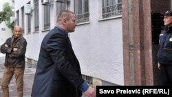 Saša Sinđelić pred sudom u Podgorici, novembar 2017.