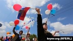 Першотравнева демонстрація у Сімферополі, 2015 рік