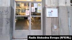 Razbijen prozor na zgradi Radio televizije Vojvodine u Novom Sadu, 8. jul