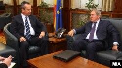 Средба на претседателот на Собранието Трајко Вељаноски со Роберт Валтер, известител на Комисијата за почитување на обврските и заложбите на земјите членки на Советот на Европа.