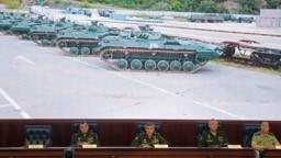 """Ruski zapovjednici predstavljaju plan vojne vježbe """"Istok 2018."""", Moskva"""