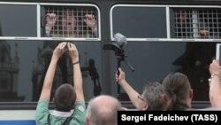 """Акция в поддержку """"узников Болотной площади"""" в Москве"""