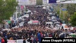 Yerevanda etirazlar 9 gündür ki, davam edir
