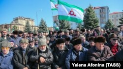 Митинг в Магасе против соглашения о границе с Чечней, 26 марта 2019 года, архивное фото