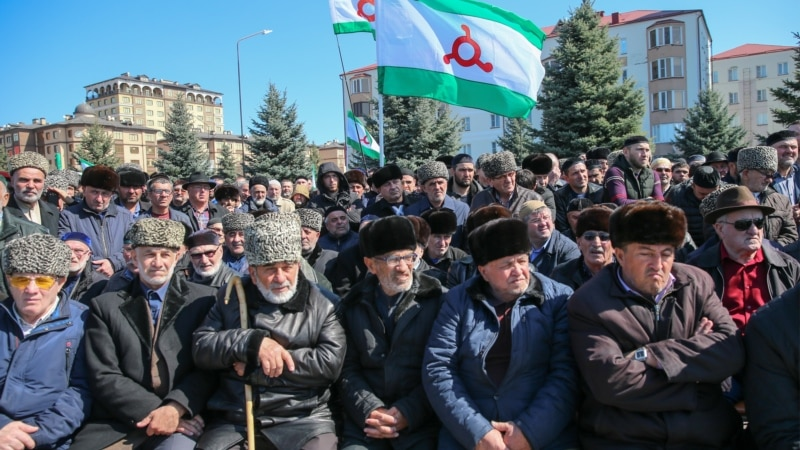 Ingush Activist Sentenced Over Violence At Rallies Against Chechnya Border Deal