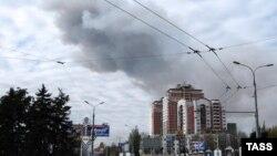 Взрыв у военного химического завода в Донецке
