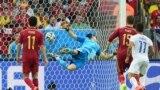 La meciul Spania-Chile pe stadionul Maracana din Rio de Janeiro