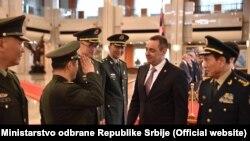 Ministar odbrane Srbije Aleksandar Vulin i ministar odbrane Kine Vei Fenghe, Peking, jul 2018.