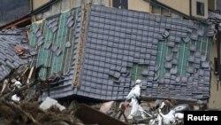 Pasojat e cunamit të 11 marsit, 2011, në Japoni.