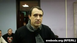 Paval Sevyarynets appears in court in Minsk on December 5.