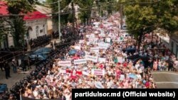 Protestul simpatizanţilor lui Ilan Şor