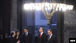 Recep Tayyip Erdogan i Barack Obama u posjeti Aja Sofiji