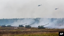 Росія та Білорусь беруть участь у військових навчаннях «Захід», Білорусь, 20 вересня 2017 року.