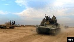 Forcat shiite në Irak gjatë operacionit në perëndim të Mosulit