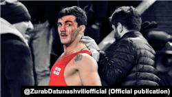 "Everyone saw that he hit me with a blunt metal object of some kind,"" Zurab Datunashvili said."