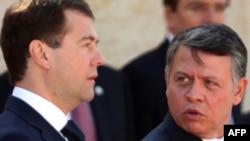 Јорданскиот крал Абдула Втори и рускиот претседател Дмитри Медведев