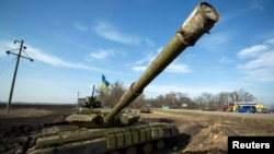 Tenk u blizini granice sa Rusijom, grad Harkiv, Ukrajina