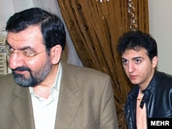 Ahmad Rezaei (right) with his father, former IRGC cmmander Mohsen Rezaei. (undated file photo)