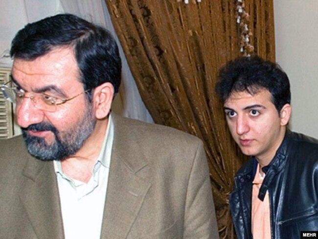 Ahmad Rezaj (desno) s ocem, bivšim komandantom Revolucionarne garde Mohsenom Rezajem. (arhivska fotografija)