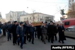 Похорон Зампіри Асанової, 17 січня 2014
