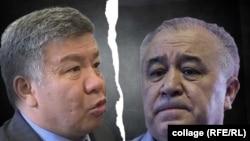Алмамбет Шыкмаматов жана Өмүрбек Текебаев.