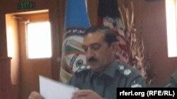 علی شاه احمدزی رئیس پولیس محلی