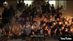 """Скриншот видео о """"казахах, отправившихся на джихад в Сирию""""."""