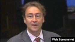 David Harland svjedoči na suđenju Ratku Mladiću, 16. lipanj 2012.