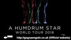Detaliu de pe afișul cu concertele GoGo Penguin în 2018.