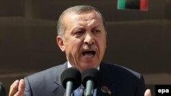 Рәҗәп Эрдоган Триполида чыгыш ясый
