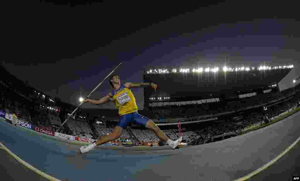 Олександр П'ятниця завоював третю срібну медаль для України - в метанні списа