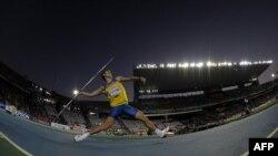 Украинский спортсмен Александр Пятница на Олимпиаде в Лондоне в 2012 году.
