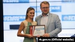 Марія Волконська з ексвіцепрем'єром Криму Дмитром Полонським