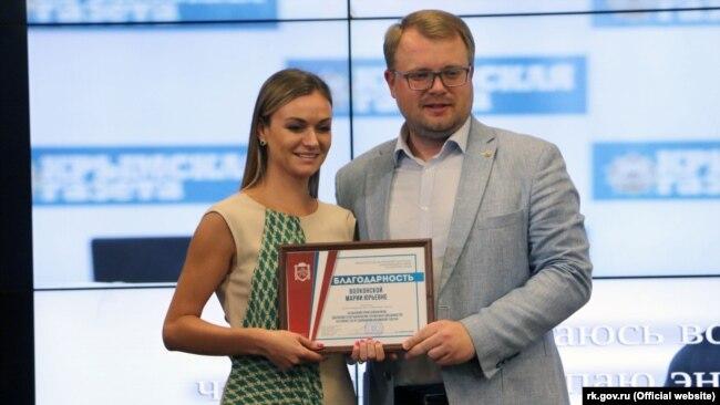 Мария Волконская с бывшим российским вице-премьером Крыма Дмитрием Полонским