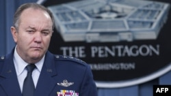 U.S. Air Force General Philip Breedlove, U.S. European Command Commander and North Atlantic Treaty Organization (NATO) supreme allied commander, holds a media briefing at the Pentagon in Washington on November 3.