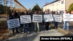 "Protest radnika ""Dalekovoda"", 22. oktobar 2013."