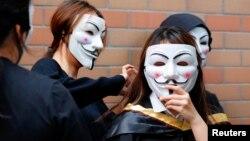 دانشجویان هنگکنگی حامی اعتراضات