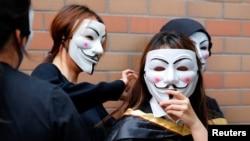 Studenti pod maskama, Hong Kong