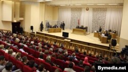 "The trial of Dzmitry Kanavalau and Uladzislau Kavalyou in Minsk was held in the Palace of Justice -- ""a place clearly suited for performances and concerts, not for a trial."""