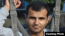 Armenia -- Hakob Karapetian, a journalist who was attached during a campagn rally held by the Republican party in Yerevan.