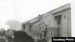 Акція кримських татар перед Верховною Радою України, Київ, 1992 рік