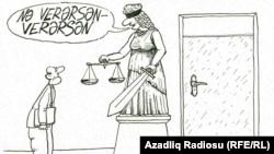 """""""Nə məsləhətdi..."""" Rəşid Şerif. Karikatura"""