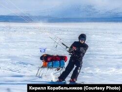 Кайтеры Трансарктической экспедиции