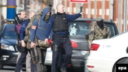 Policia speciale e Belgjikës gjatë një aksioni të mëparshëm në Bruksel