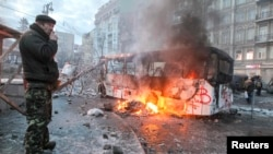 Беспорядки в центре Киева