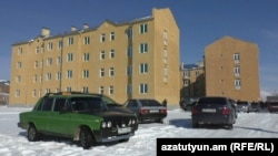 Armenia -- Newly constructed apartment buildings in Akhurian, 20Dec2016