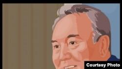 Кадр из мультфильма «Сапа Олимпиадасы» («Олимпиада качества»), главным героем которого стал президент Нурсултан Назарбаев.