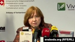Nobel prizewinner Svetlana Alexievich (file photo)